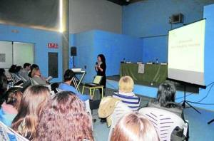 Un moment de les presentacions de projectes