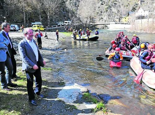 Reñé va presentar ahir a Llavorsí la temporada de turisme actiu (foto: Diputació de Lleida)