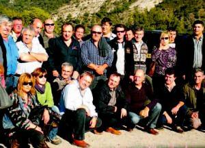 El colectivo de taxistas del Pirineo se reunió ayer en Montardit de Baix, como ya es tradicional