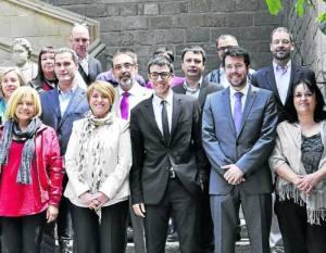 Alcaldes i responsables del festival, ahir a Barcelona (foto: FEMAP)