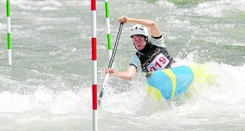 El palista Xavier Ganyet, del Cadí Canoë Kayak, va ser el guanyador en la categoria sènior C1 (foto: Ajuntament de Sort)