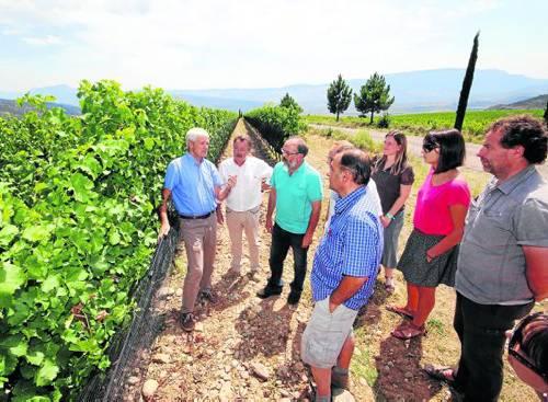 Alguns productors pallaresos van visitar les finques de Bodegas Torres a Tremp (foto: Lleonard Delshams)