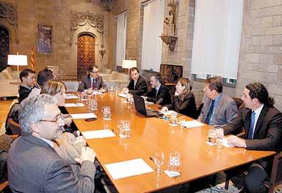 Los alcaldes de Sort y Salt se reunieron con el presidente de la Generalitat (foto: LA MAÑANA)
