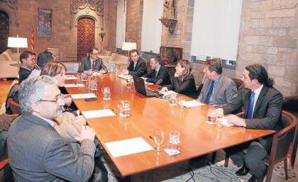 Representants de l'Ajuntament de Sort van presentar dimarts passat el projecte a Artur Mas